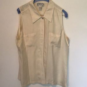 Silkland Silk sleeveless blouse size L